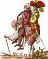 le paysan écrasé par le clergé et la noblesse
